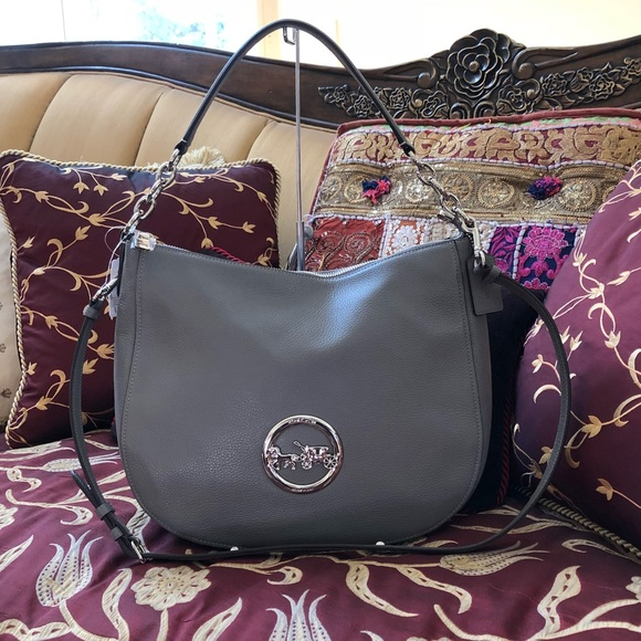 36fae0aea198 Authentic Coach Elle Pebbled Leather hobo handbag